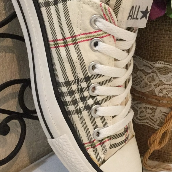 "afb3a85c4a9f Converse Shoes - CONVERSE ALL⭐️STAR ""Burberry"" Plaid Low Tops"
